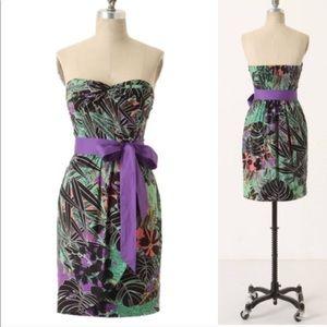 EDME & ESTELLE Tropical print dress